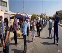 مجلس الشيوخ 2020| تزايد الإقبال على مدرسة سيزا نبراوي بالتجمع