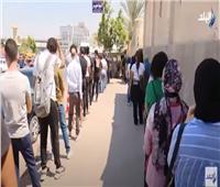 إقبال كثيف من الشباب في لجان انتخابات الشيوخ بمصر الجديدة