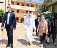 وفد البرلمان العربي يتفقد اللجان الانتخابية في الجيزة