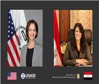 """""""المشاط"""" تُثمن جهود مديرة الوكالة الأمريكية للتنمية في تعزيز التعاون الإنمائي"""