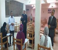 رئيس الأقصر الأزهرية يتابع امتحانات التأهيل التربوي