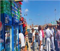 صور| حملة مكبرة لإزالة الباعة الجائلين بالموقف الجديد في الإسكندرية