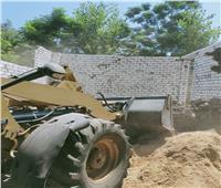 إزالة 6 حالات تعد على الأراضي الزراعية بالسنطة