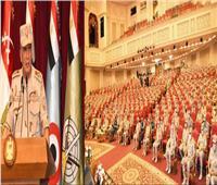وزير الدفاع يلتقي عددًا من الضباط المعينين لتولي الوظائف القيادية بالقوات المسلحة