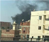بالصور| حريق ضخم في مخزن خردة بجوار دائري المريوطية
