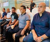 حسام البدري وجهاز المنتخب في مباراة القمة 120