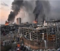 بالفيديو  حريق جديد في مرفأ بيروت