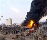 بث مباشر  حريق هائل في مرفأ بيروت للمرة الثانية