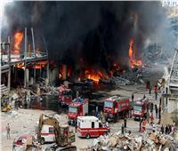 الدفاع المدني اللبناني: لا يوجد خطر من تمدد حريق مرفأ بيروت