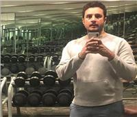 بالفيديو.. أحمد الفيشاوي في الجيم