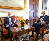 وزير الخارجية يؤكد اعتزاز مصر بالتواصل الحضاري والإنساني مع اليونان