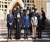زيارة وفد سفراء أوروبي لكاتدرائية شهداء طنطا