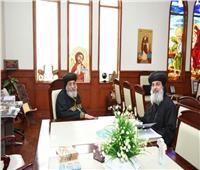 البابا تواضروس يستقبل الأنبا مقار وأسقف سوهاج