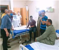 محافظ بني سويف يزور 20 مصابًا بالتسمم