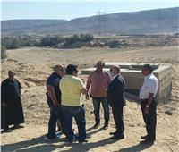 وفد من وزارة البيئة يعاين موقع المحطة الوسيطة بالزرابي في أسيوط