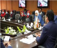 أشرف صبحي يلتقي الااتحاد العام لشباب سوهاج