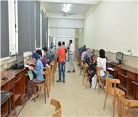توافد ٧٦١ على معامل التنسيق الإلكتروني بجامعة عين شمس في اليوم الخامس للمرحلة الثالث