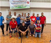 مياه المنيا تحصل على المركز الأول في بطولة الاتحاد العام للشركات