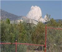 انفجار عنيف في بلدة عين قانا جنوب لبنان