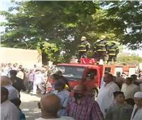 جنازة مهيبة للشهيد محمد عفت القاضي بالمنوفية