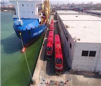 نشاط في حركة السفن وتداول البضائع والحاويات بميناء الإسكندرية