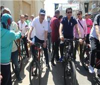 وزير الشباب يقود ماراثون للدارجات بمشاركة ١٠٠ شاب بسوهاج