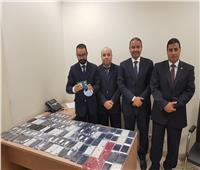 جمارك مطار القاهرة تحبط تهريب كمية من الهواتف المحمولة