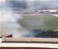 اندلاع حريق في استاد طنطا والحماية المدنية تحاول السيطرة عليه