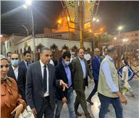 أشرف صبحي ومحافظ سوهاج في جولة بالممشي السياحي