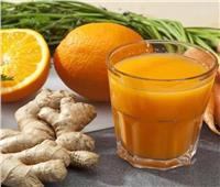 مشروب صحي... «عصير البرتقال بالزنجبيل مع الكركم»