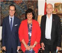 وزيرة الثقافة تستقبل سفير فرنسا لدعم التعاون الثقافي بين البلدين