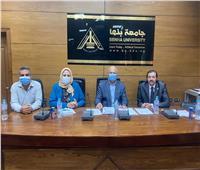 اللجنة العليا لجائزة مصر للتميز الحكومي بجامعة بنها تستقبل المتقدمين