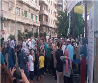 صور  الجماهير تنتظر افتتاح معرض الإسكندرية للكتاب
