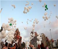 صور  الشعب اللبناني يُحيي ذكرى انفجار المرفأ بالبالونات البيضاء