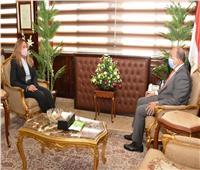 شعراوي يبحث التعاون مع المدير التنفيذي للأكاديمية الوطنية للتدريب
