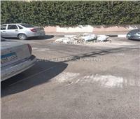 امسك مخالفة| «سائق كارو» يلقي «ردم المباني» خلف سور الميريلاند.. صور