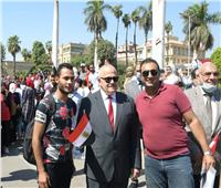 فيديو و صور.. قبة جامعة القاهرة تتزين بأعلام مصر احتفالًا بانتصارات أكتوبر