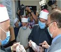 صور| وزير الأوقاف ومحافظ الإسكندرية يشهدان توزيع لحوم صكوك الأضاحي