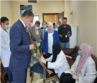 رئيس جامعة بنها يتفقد استعدادات العام الدراسى وإجراءات الكشف الطبى
