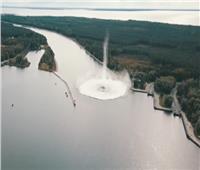 فيديو| انفجار إحدى أكبر قنابل الحرب العالمية الثانية تحت الماء
