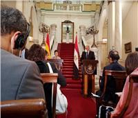 وزير الخارجية يؤكد لنظيرته الأسبانية حرص مصر على حل الأزمة الليبية والقضية الفلسطينية