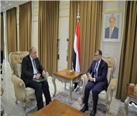 سفير مصر باليمن يبحث مع وزير الخارجية العلاقات الثنائية بين البلدين