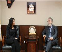 مايا مرسي تستقبل سفير البرازيل لتعريفه بجهود النهوض بأوضاع المرأة المصرية