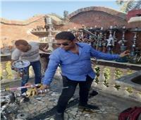 صور | غلق وتشميع مقهى بالبدرشين لتقديم «الشيشة»