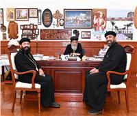 البابا تواضروس يستقبل كاهنين من«نيويورك» وسفيرة مصر بـ«موريشيوس»