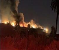 عاجل  اندلاع حريق بجبل غلامه في السعودية