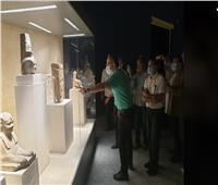 وزير السياحة والآثار يتفقد متحف آثار شرم الشيخ