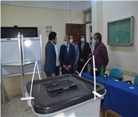 محافظ المنيا يتابع عددا من اللجان الانتخابية مع موعد غلق الصناديق