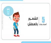 إنفوجراف | 5أسباب وراء الشعور بالعطش