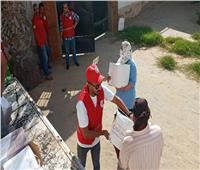 الهلال الأحمر المصري يدعم الأسر المتضررة من فيروس كورونا في المحافظات